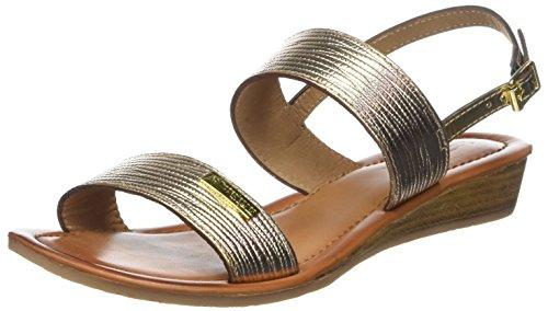 Les Tropéziennes Par M. Les Tropéziennes Par M. Belarbi Women's Balta Sling Back Sandals Gold (or 642) Fronde Balta Femmes Belarbi L'or Retour Sandales (ou 642)