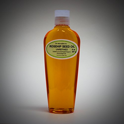 Rosehip Unrefined Organic Carrier Oil Cold Pressed 8 Oz