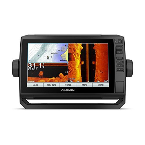 Garmin ECHOMAP Plus 93sv with Transducer, 9″ Keyed Assist Touchscreen Chartplotter/Sonar Combo with Chirp Traditional, ClearVu and SideVu Scanning Sonar Transducer and Built in LakeVu HD Inland maps For Sale