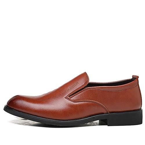 Oxford Vestir Mxl Comfort Resbalón Zapatos Formales En Moda Color Marrón Clásico Los De Masculina Cuero Microfibra Puro rqZrCwxE