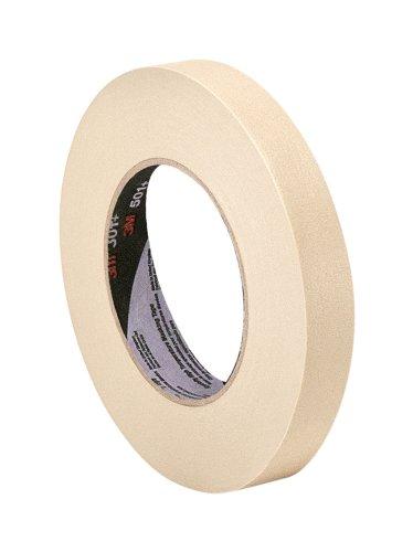 "3M 501+ 0.75"" x 60 Yard High Temperature Masking Tape 0.75"" x 60 Yard Roll, Crepe Paper, Tan"