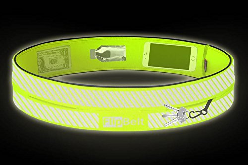 FlipBelt Reflective Edition The patented high visibility reflective running belt to secure your items and keep you safe while running!