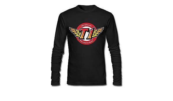 100% algodón hombres de Corea SKT T1 Esports equipo Logo camisetas negro, M, Negro: Amazon.es: Deportes y aire libre