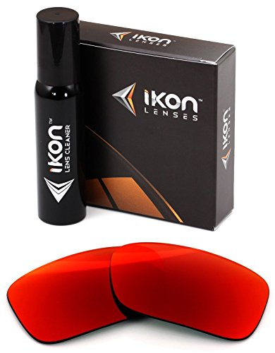 Polarized Ikon Iridium Replacement Lenses for Oakley Crankcase Sunglasses - + Red - Oakley Sunglasses Custom
