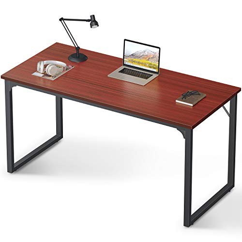 "Coleshome Computer Desk 47"", Modern Simple Style Desk for Home Office, Sturdy Writing Desk,Teak"