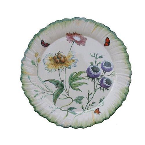Faïencerie de Niderviller  Botanische Folien – rel6626, Cafeti&eGröße;re Renaissance  Assiette à dessert ronde