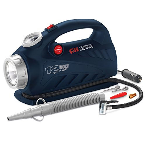Campbell Hausfeld AF010800 Portable 2-In-1 Inflator/LED Light, 150 psi, Blue
