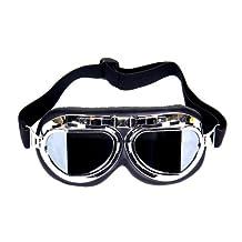 FreshGadgetz RAF Replica Aviator Vespa Steampunk Motorcycle Goggles