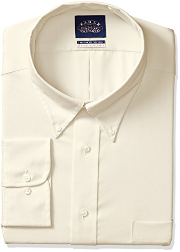 Eagle Men's Non Iron Stretch Collar Regular Fit Solid But...