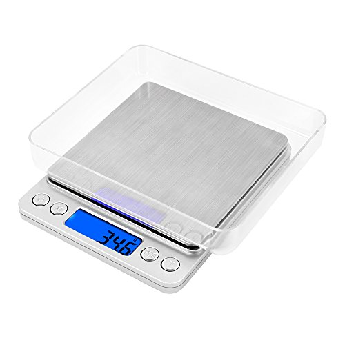 VersionTech 6.6lb/3kg Digital Food Scale with Stainless Steel Platform, Multifunctional Kitchen Scale