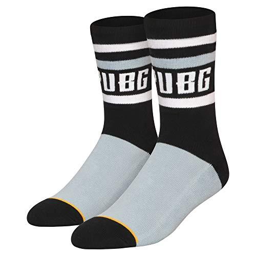 - JINX PUBG Logo Crew Embroidered Athletic Crew Socks (1 Pair)