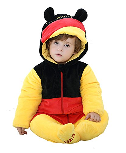(Tonwhar Unisex-Baby Autumn and Winter Thicken The National Flag Costume Bodysuit (80 Ages 6-12 Months,)