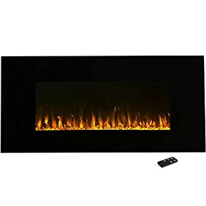 Amazon Electric Fireplace Wall Mounted LED Fire and