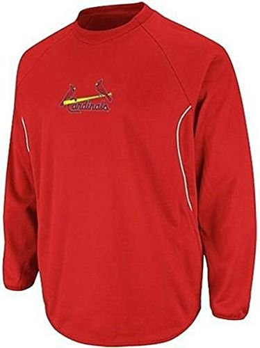 Base Therma Sweatshirt (VF St Louis Cardinals MLB Majestic Authentic Therma Base Tech Fleece Big & Tall Sizes (5XL))