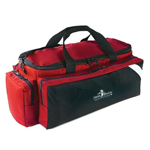 Iron Duck 34016D-R Breath Saver Airway Management System Bag for Class D or Jumbo D Oxygen Tank with Ergonomic, Adjustable Shoulder and Hand Straps, Nylon, Red, Made in the USA! (Tank Bags Red)