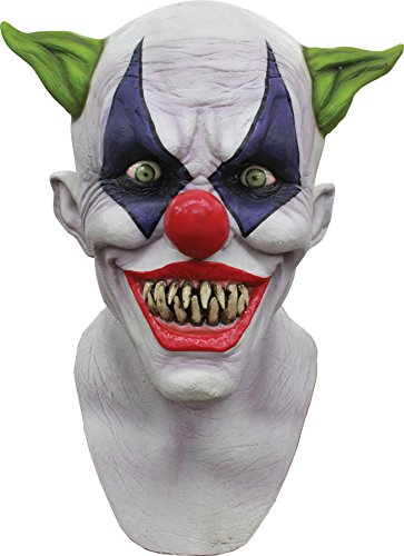 Creepy Giggles Latex Mask (UHC Men's Creepy Giggles Clown Horror Party Latex Halloween Costume Mask)