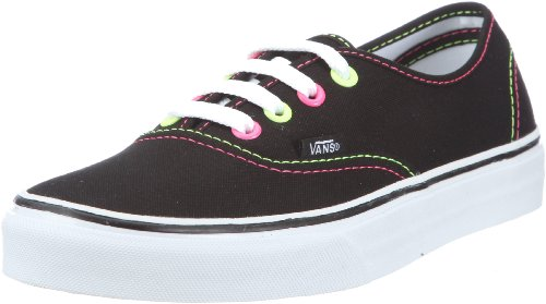 Vans Authentic (Neon) black/pink/yellow VNJV5KS - Zapatillas de tela para mujer Negro