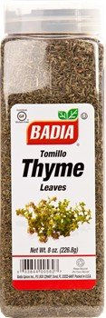 Badia Thyme Leaves Whole 8 oz