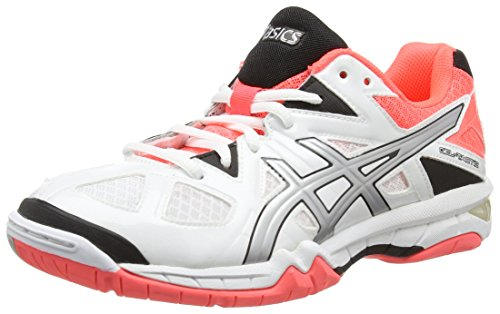 Femme Asics 0193 Volleyball Chaussures Gel Coral Blanc De silver tactic flash white Xx17qX