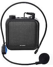 Spraakversterker, 12 W Oplaadbaar PA-systeem (1200 mAh) met Bekabelde Microfoon voor Docenten, Gids en Meer