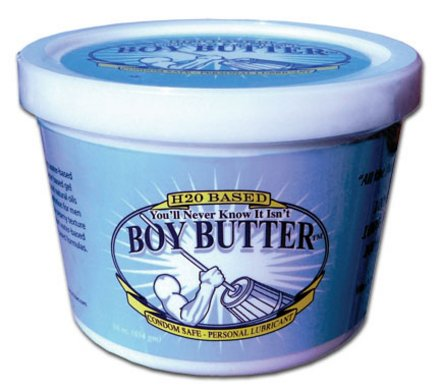 Boy Butter H20 Lubrifiant 16 oz Tub (condom en latex sécuritaire) (Paquet de 2)