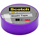 Scotch Expressions Washi Tape, .59-Inches  x 393-Inches, Purple, 6 Rolls/Pack