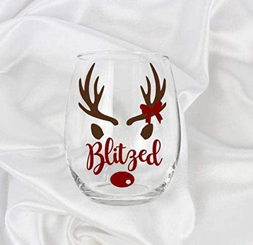 Amazon.com: Funny Christmas stemless wine glass gifts for