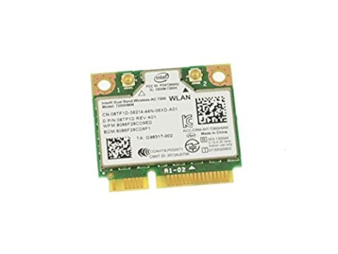 8TF1D - Intel Dual Band Wireless-AC 7260 WLAN WiFi 802.11 ac/a/b/g/n + Bluetooth 4.0 Half-Height Mini-PCI Express Card - (Wifi Card Mini Pci)
