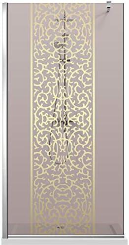 Modern Glass Art Leroy Timeless - Mampara de ducha (8 mm, cristal templado de seguridad, nano, acero inoxidable SS304), dorado: Amazon.es: Bricolaje y herramientas