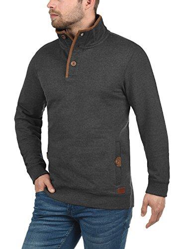 E Blend Collo 70818 Con Da Charcoal Achlias Buttoni Uomo Alto Pullover Maglione Taschino Felpa qxU6wqrv