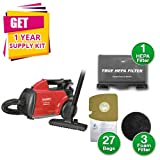 Cheap Sanitaire SC3683B Commercial Compact Canister Vacuum, 10lb, Red (Canister Vacuum w/Kit)
