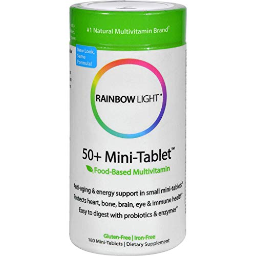 Rainbow Light 50 Plus Mini Tab Age Defense Formula - 180 per Pack - 2 Packs per case.