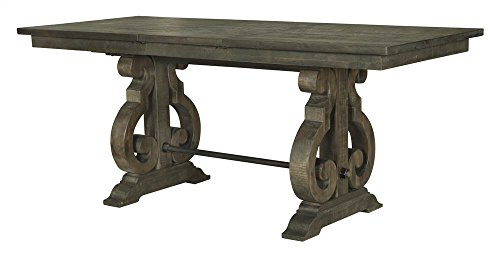 Magnussen Bellamy Counter Height Dining Table in Weathered Pine (Dining Room Furniture Magnussen)