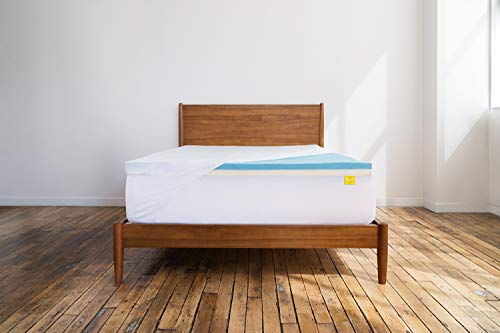 Revel Custom Feel Reversible 3-Inch Cradling Memory Foam and Responsive Alternative Latex Mattress Topper with Stay Fresh Cover, Made in The USA with a 10-Year Warranty, Amazon Exclusive, Full, White