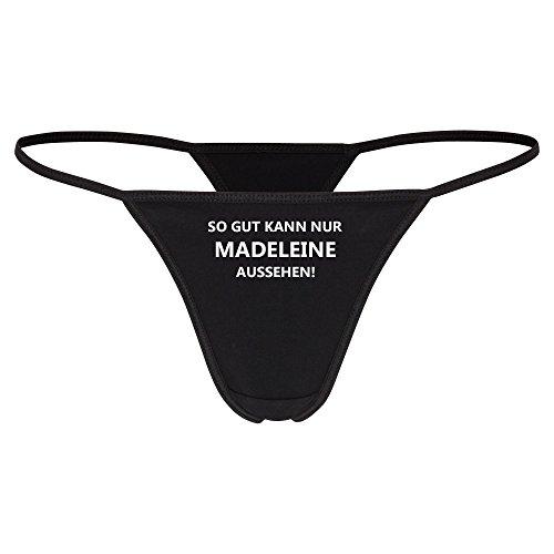 String Tanga So gut kann nur Madeleine schwarz Damen Gr. S bis XL