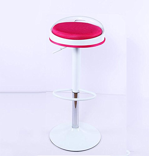 Bar chairs / home plastic high stool / can be upgraded European fashion simple chair / bar chair ( Color : Pink ) by Xin-stool