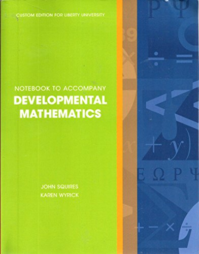 Developmental Mathematics Notebook custom edition