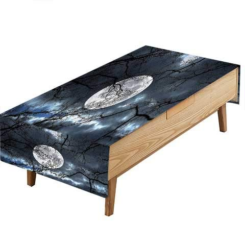 - PINAFORE 100% Polyester,Eco-Friendly Safe Full at Night in The Winter Time al Dramatic Days Heat Moisture Resistance Indoor Outdoor Table Covers W60 x L84 INCH