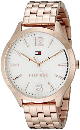 Tommy Hilfiger Women's 1781548 Casual Sport Analog Display Quartz Rose Gold Watch