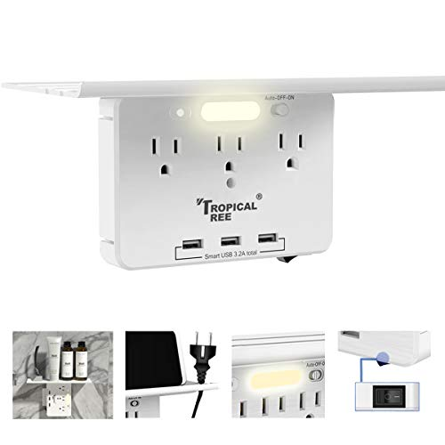 Socket Outlet Shelf -TROPICALTREE Wall Outlet Expander