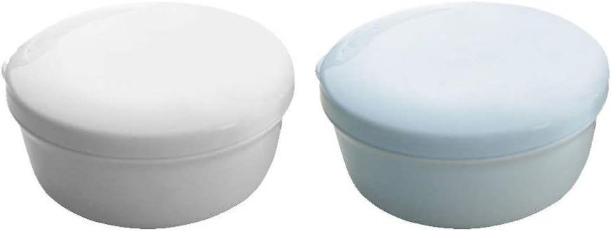 TOPBATHY 2 Piezas Caja de Jabón Impermeable Redonda Jabonera de Viaje Contenedor de Jabón Portátil Protector para El Hogar Ducha Acampar Al Aire Libre (Color Aleatorio): Amazon.es: Hogar