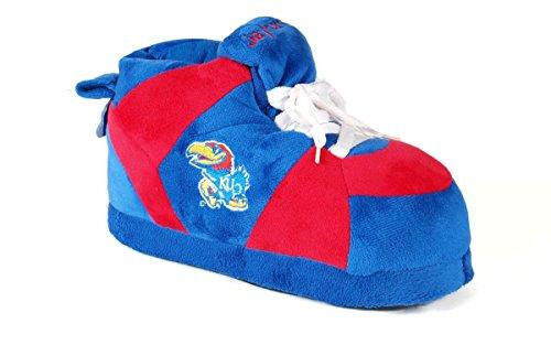 KAN01-2 - Kansas Jayhawks - Medium - Happy Feet Men's and Womens NCAA Slippers
