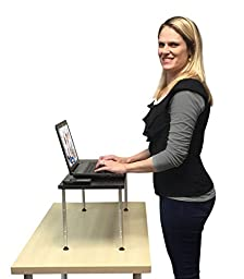 Stand Steady TITAN JR. Monitor Stand -CRAZY Big & Tall! - Holds 2 Monitors & Height Adjustable 2-12 inches! (JR.)