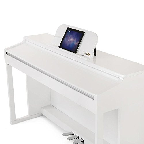 The ONE Smart Piano, Weighted 88-Key Digital Piano, Grand Graded Hammer-Action Keys Upright Piano-Classic White