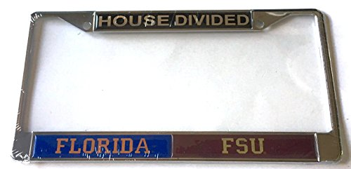 Florida Gators - Florida State Seminoles - FL - FSU House Divided Car Tag License Plate Frame