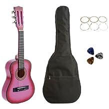 "Star CG5126-BSP-PK Kids Acoustic Toy Guitar 31"", Pink with Bag, Strings & Picks"