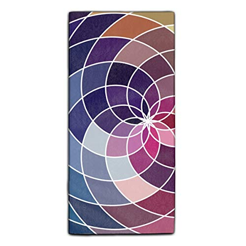 Mosaic Spectrum Color Wheel Made Of Geometric Fiber Reactive Printed Kitchen Dish Towel 11.8 × 27.5 Inches