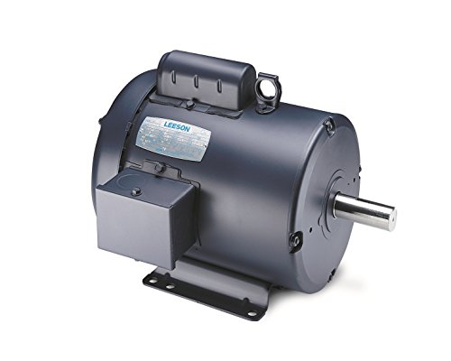 Leeson 110011.00 General Purpose TEFC Motor, 1 Phase, 56 Frame, Rigid Mounting, 1/2HP, 1200 RPM, 115/208-230V Voltage, 60Hz Fequency by Leeson