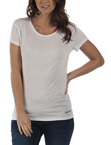 Bench - Camiseta para mujer Slide Blanco Brillante