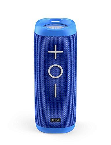 Tribit StormBox Bluetooth Speaker - 24W Portable Speaker, 360° Surround Sound, Enhanced Bass, Wireless Dual Pairing, IPX7 Waterproof, 20-Hour Playtime, 66ft Bluetooth Range Outdoor Speaker (Blue)